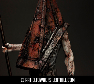 Red Pyramid Thing Statue